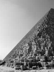 side of a pyramid in b/w