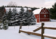 winter farm scene