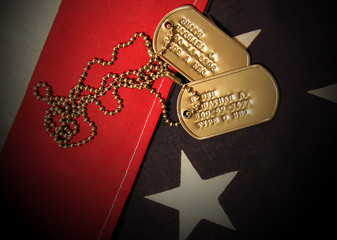 vietnam war tags (fictional names and social security numbers)