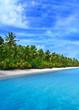 Leinwanddruck Bild tropical coast