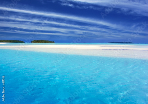 canvas print picture turquoise lagoon ii