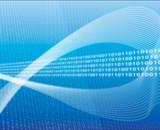 illustration of data transfer poster