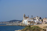 sitges coast view poster