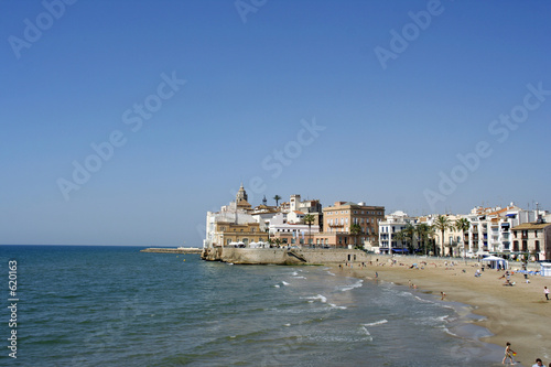 sitges church view