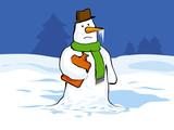 snowman cartoon poster