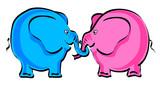 elephant cartoon poster
