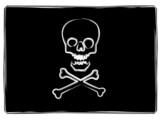 skull and cross bones poster