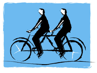 tandem bycicle
