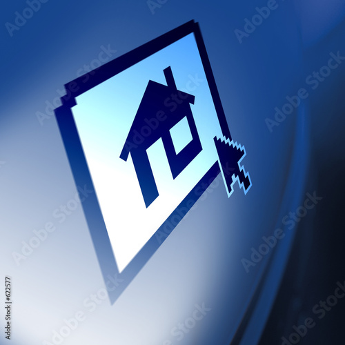 computer screen property house icon