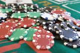 pile of poker chips poster