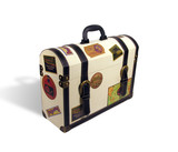 world travelers suitcase poster
