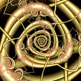spiral fraktal poster