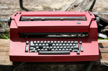 old and dusty typewriter
