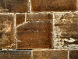 brown stone wall poster