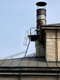 steel rusty chimney poster