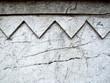 gray cracked ornamental wall
