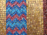 colorful mosaic tiles poster