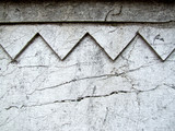 gray cracked ornamental wall poster