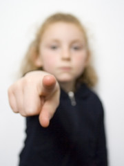 young girl pointing 1