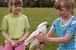 two girls with white cockatoo