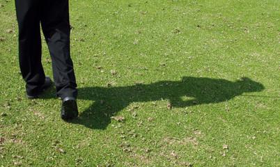 golfer shadow