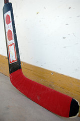 goalie's hockey stick