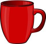 red coffee mug poster