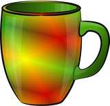 multicolored coffee cup poster