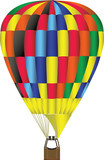 hot air balloon illustration poster