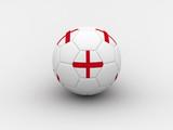england soccer ball poster