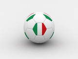 italy soccer ball poster