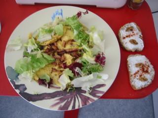 assiette avec tartines