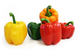 multicolored peppers poster