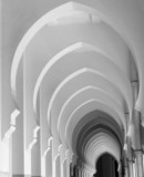 arches in black and white poster