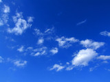 blue sky with white clouds poster
