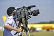 cameraman at open air event