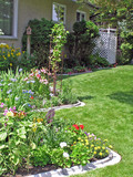 curving perennial bed poster