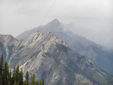 banff mountain peaks poster