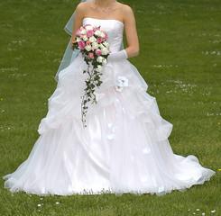 robe et bouquet