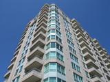 highrise condominium apartment building poster