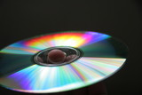 cd disk with rainbow reflections poster