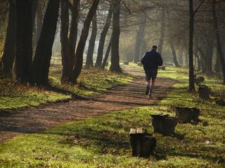 jogging at morning light