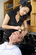 washing a man's hair 1