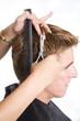 cutting a man's hair