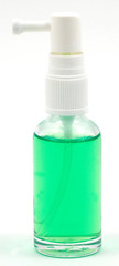 green liquid in bottle