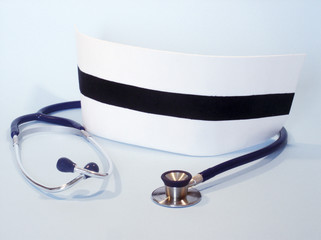 nurse cap and stethoscope