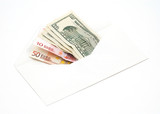 money in envelope poster