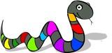 striped snake poster