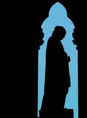 silhouette of a prayer