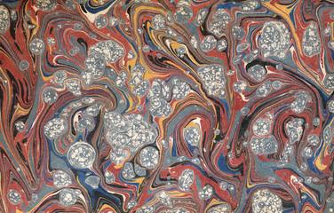renaissance/victorian marbled paper 43
